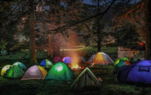 A bunch of tents