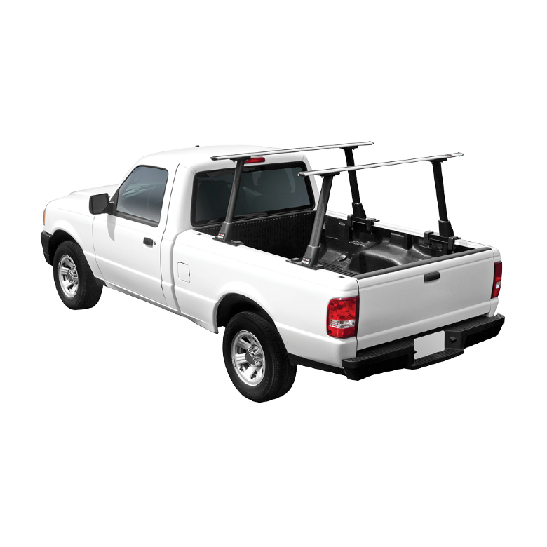 Truck with a bed rack