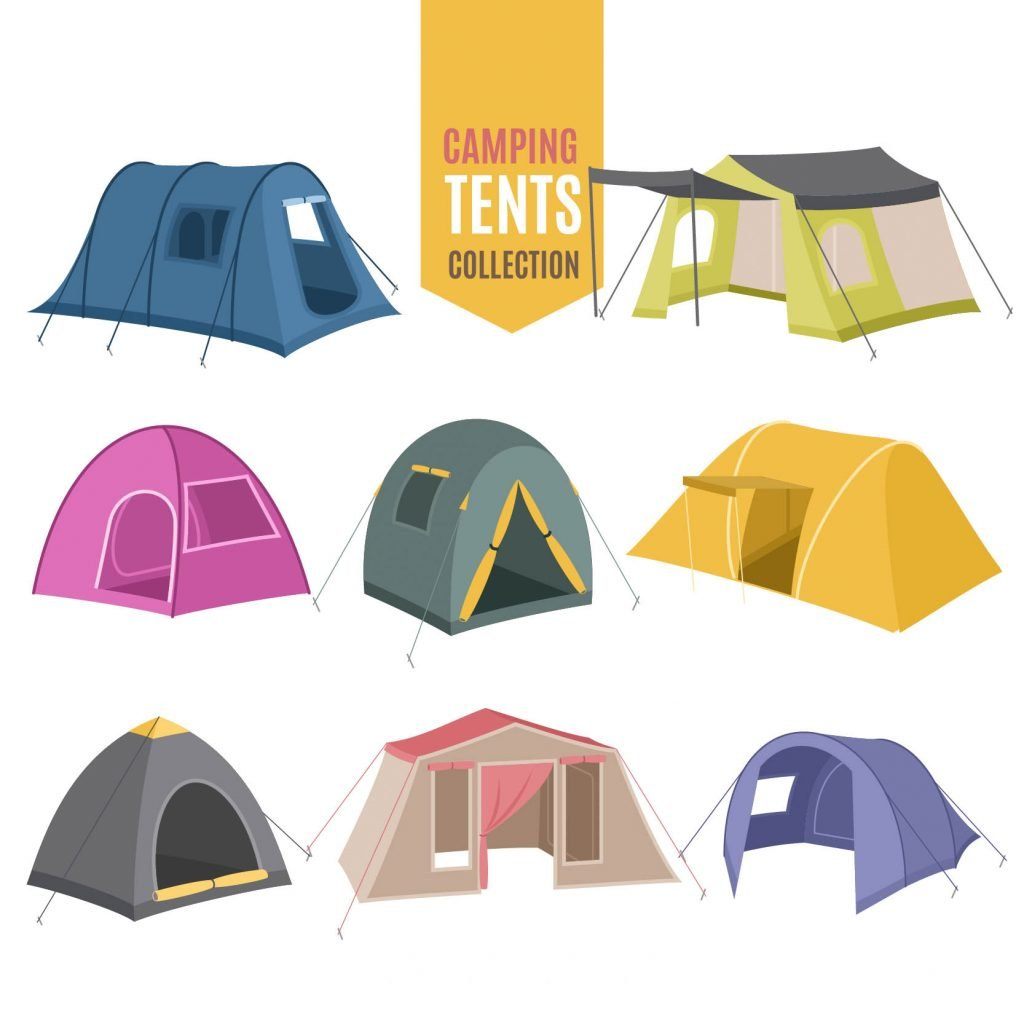 variety of camping tent collection