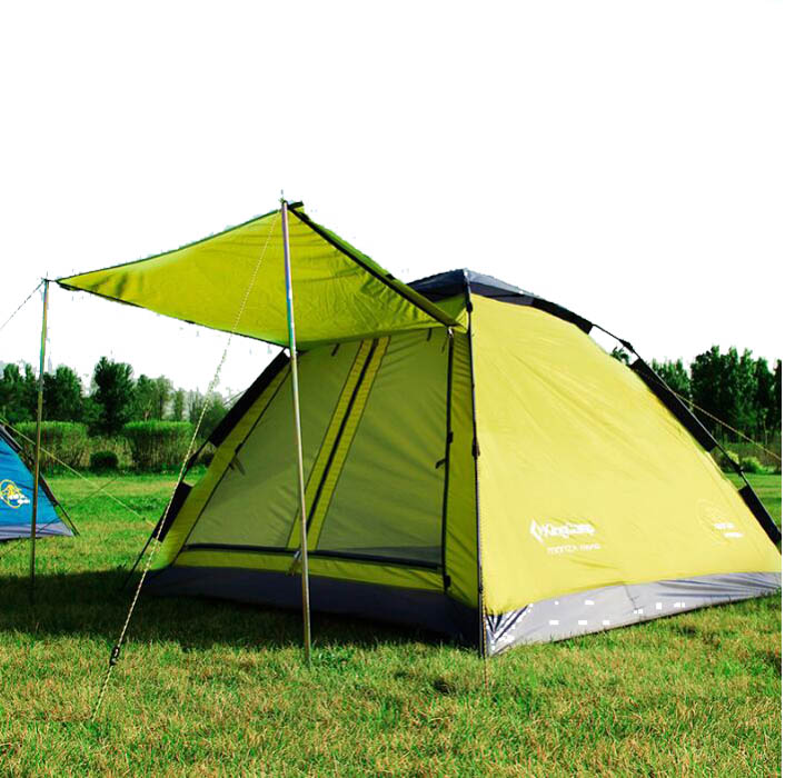 A newly pitched tent