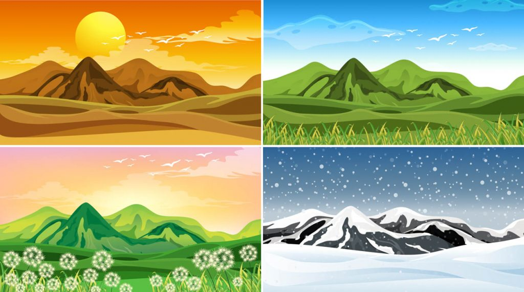 the 4 seasons for camping with a tent