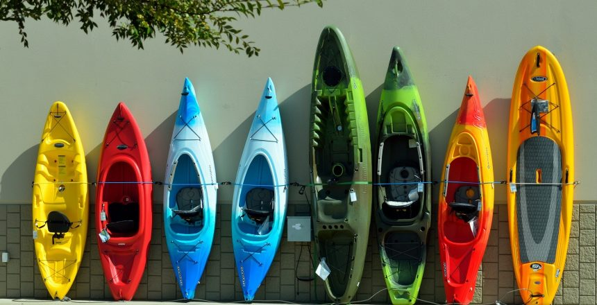 Different types of kayaks